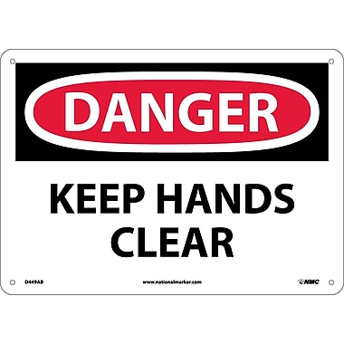 Danger, Keep Hands Clear, 10X14, .040 Aluminum
