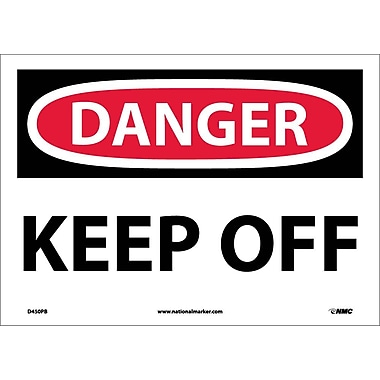 Danger, Keep Off, 10X14, Adhesive Vinyl