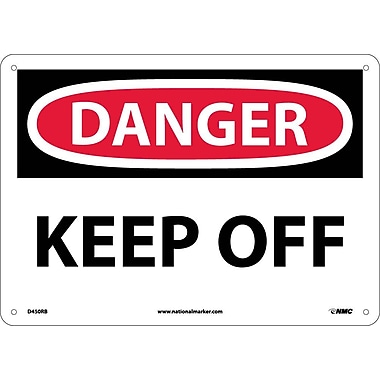 Danger, Keep Off, 10X14, Rigid Plastic