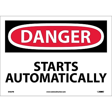 Danger, Starts Automatically, 10