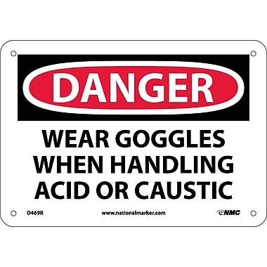 Danger, Wear Goggles When Handling Acid Or..., 7