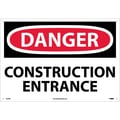 Danger, Construction Entrance, 14X20, Rigid Plastic