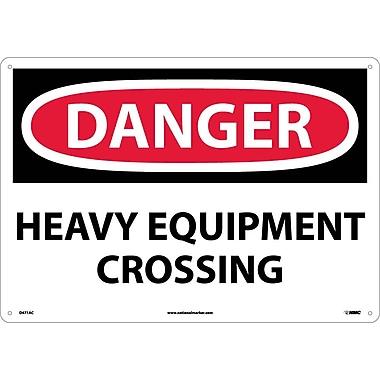 Danger, Heavy Equipment Crossing, 14X20, .040 Aluminum