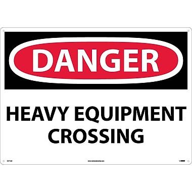 Danger, Heavy Equipment Crossing, 20