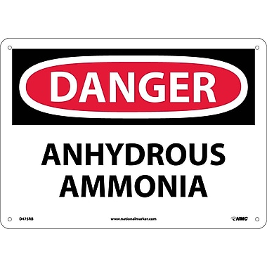 Danger, Anhydrous Ammonia, 10X14, Rigid Plastic