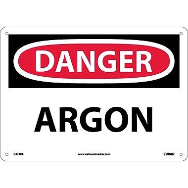 Danger, Argon, 10X14, Rigid Plastic