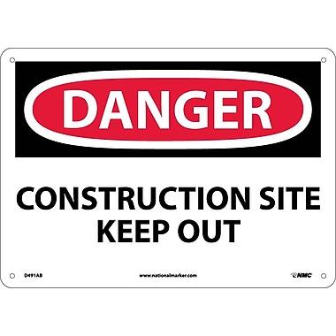 Danger, Construction Site Keep Out, 10X14, .040 Aluminum