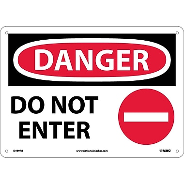 Danger, Do Not Enter, Graphic, 10X14, Rigid Plastic
