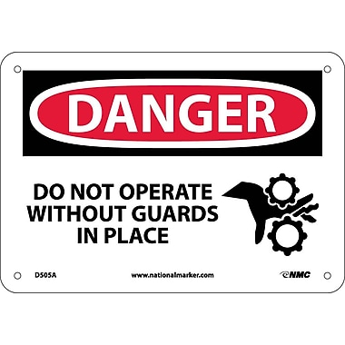 Danger, Do Not Operate Without Guards In Place, Graphic, 7