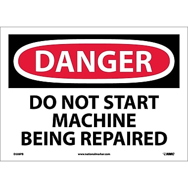 Danger, Do Not Start Machine Being Repaired, 10