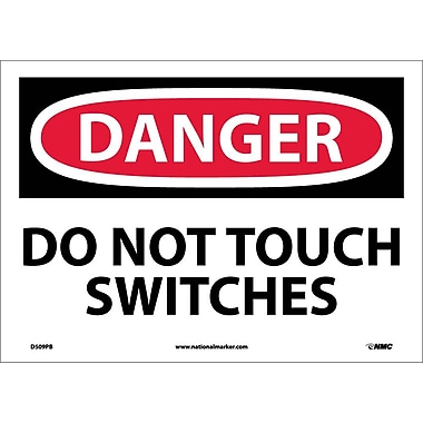 Danger, Do Not Touch Switches, 10X14, Adhesive Vinyl