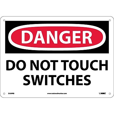 Danger, Do Not Touch Switches, 10X14, Rigid Plastic