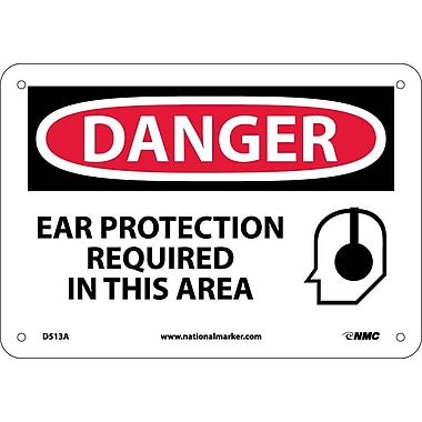 Danger, Ear Protection Required, Graphic, 7