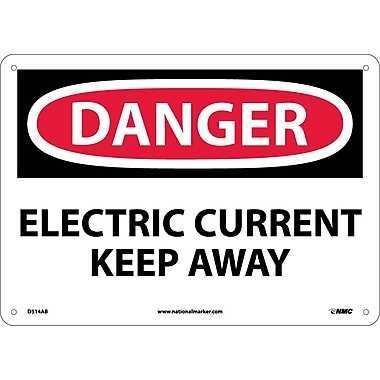 Danger, Electric Current Keep Away, 10X14, .040 Aluminum