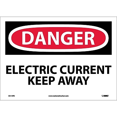 Danger, Electric Current Keep Away, 10X14, Adhesive Vinyl