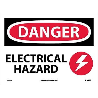 Danger, Electrical Hazard, Graphic, 10X14, Adhesive Vinyl