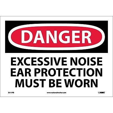 Danger, Excessive Noise Ear Protection Must Be Worn, 10
