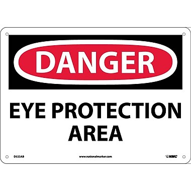 Danger, Eye Protection Area, 10X14, .040 Aluminum