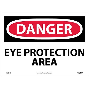 Danger, Eye Protection Area, 10X14, Adhesive Vinyl