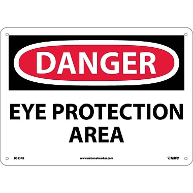 Danger, Eye Protection Area, 10X14, Rigid Plastic