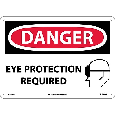 Danger, Eye Protection Required, Graphic, 10X14, Rigid Plastic