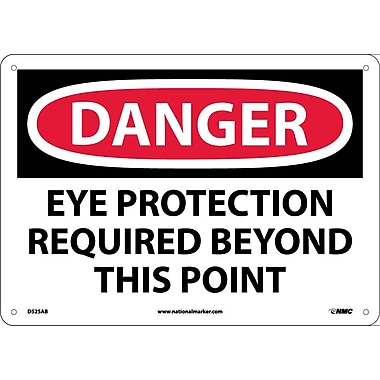 Danger, Eye Protection Required Beyond This Point, 10