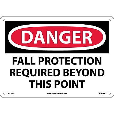 Danger, Fall Protection Required Beyond This Point, 10