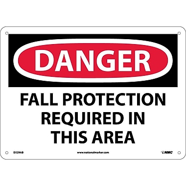 Danger, Fall Protection Required In This Area, 10