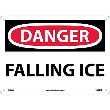 Danger, Falling Ice, 10X14, Rigid Plastic
