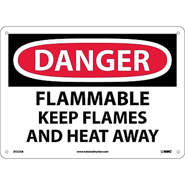 Danger, Flammable Keep Flames And Heat Away, 10