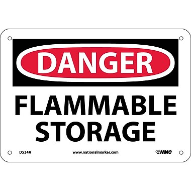 Danger, Flammable Storage, 7