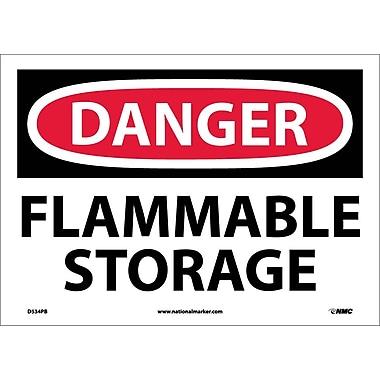 Danger, Flammable Storage, 10
