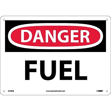 Danger, Fuel, 10X14, Rigid Plastic
