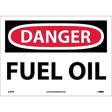 Danger, Fuel Oil, 10X14, Adhesive Vinyl