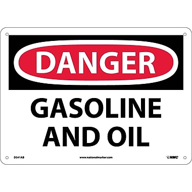 Danger, Gasoline And Oil, 10X14, .040 Aluminum