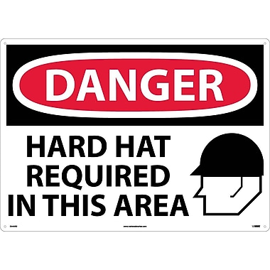 Danger, Hard Hats Required In This Area, Graphic, 20