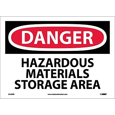Danger, Hazardous Materials Storage Area, 10X14, Adhesive Vinyl