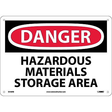 Danger, Hazardous Materials Storage Area, 10X14, Rigid Plastic