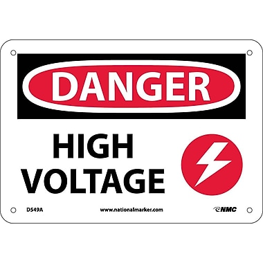Danger, High Voltage, Graphic, 7X10, .040 Aluminum