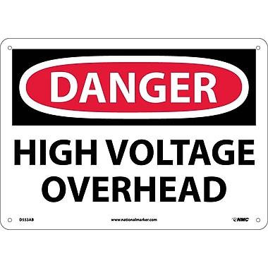 Danger, High Voltage Overhead, 10