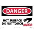 Danger, Hot Surface Do Not Touch, Graphic, 10X14, .040 Aluminum