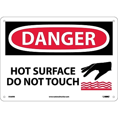 Danger, Hot Surface Do Not Touch, Graphic, 10