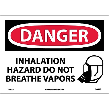 Danger, Inhalation Hazard Do Not Breathe Vapors, Graphic, 10X14, Adhesive Vinyl