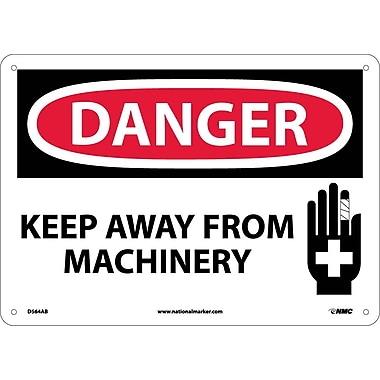 Danger, Keep Away From Machinery, Graphic, 10X14, .040 Aluminum