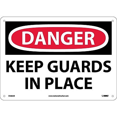 Danger, Keep Guards In Place, 10X14, .040 Aluminum