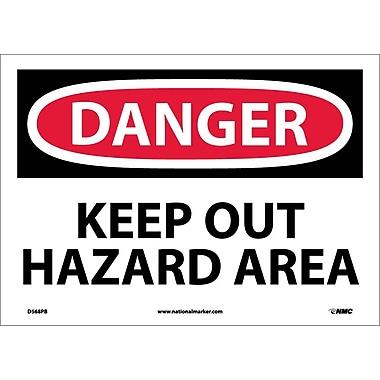 Danger, Keep Out Hazard Area, 10X14, Adhesive Vinyl