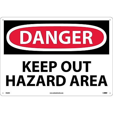 Danger, Keep Out Hazard Area, 14X20, Rigid Plastic