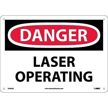 Danger, Laser Operating, 10X14, .040 Aluminum