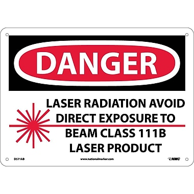 Danger, Laser Radiation Avoid Direct Exposure To Beam Class 111B Laser Product, Graphic