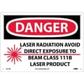 Danger, Laser Radiation Avoid Direct Exposure To Beam Class 111B Laser Product, Graphic, 10X14, Rigid Plastic